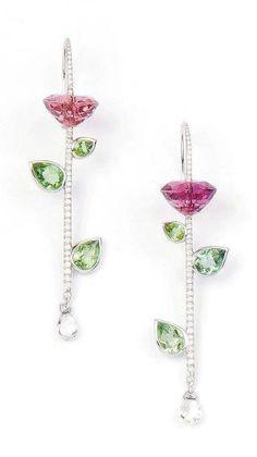 glitzalicious ♥s this pin of Pink Earrings :Lorenz Baumer