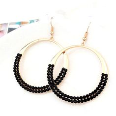 Trendy Mela Offers Beora Luxurious Black Circle Fashion Earrings at discount price. Visit Our Online Store For More Details @ Trendymela.com
