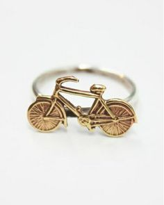 The I Want to Ride My Bicycle Ring by JewelMint.com, $40.00