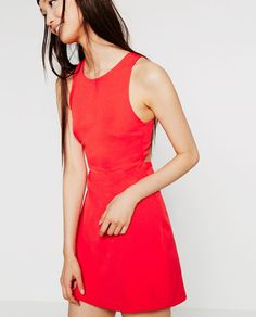 Image 4 of DRESS WITH CUT-OUTS AND ZIPS from Zara