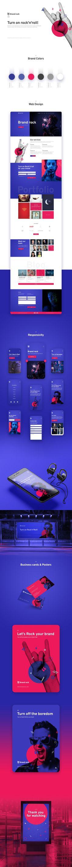 Branding and modern website design presentation Modern Website, Presentation Design, Design Agency, Branding, Colors, Brand Management, Colour, Identity Branding, Color