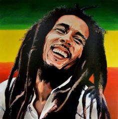 Bob Marley Painting, Bob Marley Art, Reggae Bob Marley, Image Bob Marley, Bob Marley Desenho, Reggae Art, Rasta Art, Bob Marley Pictures, Afrique Art