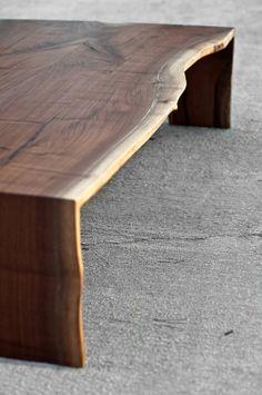 Live Edge Coffee Table Walnut Folded Bole by brandMOJOinteriors, $1850.00
