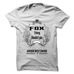 Is FOX Thing - 999 Cool Name Shirt ! T-Shirts, Hoodies (22.25$ ==► Order Here!)