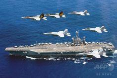 米空母2隻が同時展開=戦力顕示、中国けん制-フィリピン海 国際ニュース:AFPBB News