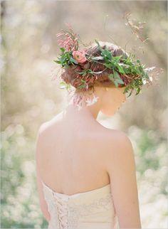 floral head piece dreamy loose flower wreath head lei with jasmine