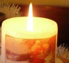 Hoe kaarsen versieren met servetten techniek