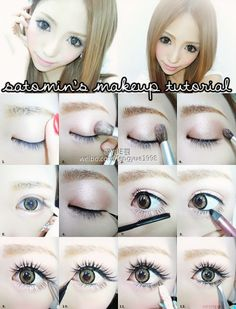 Techniques asian Make up for gyaru! Make up for gyaru! Lolita Makeup, Gyaru Makeup, Ulzzang Makeup, Doll Makeup, Beauty Makeup, Glamour Makeup, Beauty Tips, Asian Makeup Prom, Prom Makeup Looks