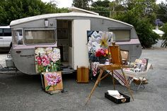 One for an artist, I own everything shown.....except the camper.....one day!