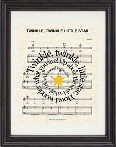 Twinkle Twinkle Little Star Nursery Rhyme by TexasGirlDesigns, $15.00