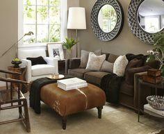 @Sasha Hatherly Hatherly Lenz brown couch