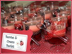 Fun food and party favor ideas for lady bug shower