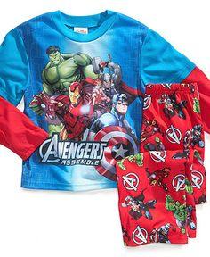 AME Kids Pajamas, Boys or Little Boys 2-Piece Avengers PJs - Kids Pajamas - Macy's