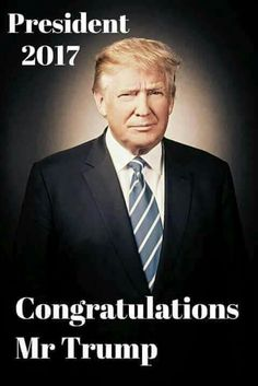 Our President For The Despicable People Or Real Americans.. Congratulations To Donald J Trump.. (January 20 2017)