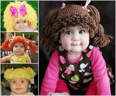 Cabbage Patch Beanie Hats Crochet Patterns