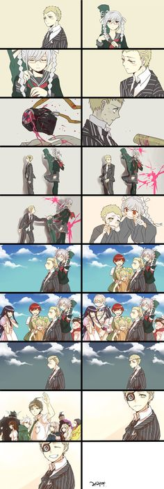 Fuyuhiko Kuzuryuu //DanganRonpa  Just finish of the death scene, it was..... :(( nvm T^T