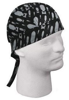 Black/Grey Bombs Print Military Headwrap - ArmyNavyShop.com