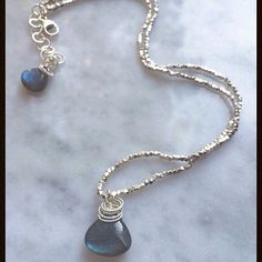 #Repost @emilyjanejewelry  #labradorite #necklace #ooak #thaisilver #hilltribesilver #handmade #jewelry