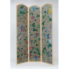 "72"" x 48"" Vibrant Floral 3 Panel Room Divider"