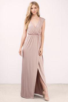 What I Need Mauve High Slit Maxi Dress