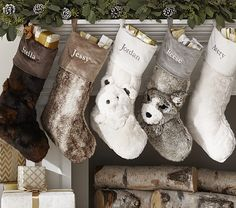 DIY: {Pottery Barn Knock-Off} Faux Fur Stocking | Riva La Diva ...