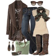 """Brown 'n Mint"" by smores1165 on Polyvore"