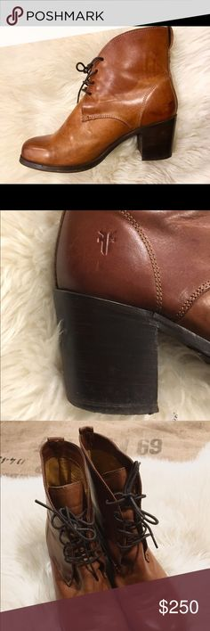 Frye Bootie -Kendall Lace Up- - Worn Once - Frye -  Genuine Leather - Lace Up - Frye Shoes Ankle Boots & Booties