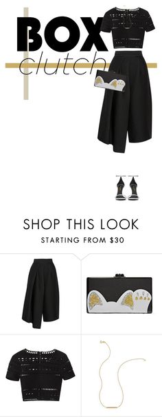 """""""- BOX CLUTCH -"""" by trendsetter-98 on Polyvore featuring moda, TIBI, Edie Parker, Hervé Léger, Wish by Amanda Rose, Yves Saint Laurent, women's clothing, women's fashion, women y female"""