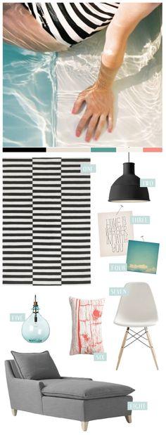 Great vision board for interior design studies