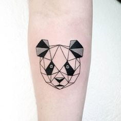 Geometric Panda Tattoo idea