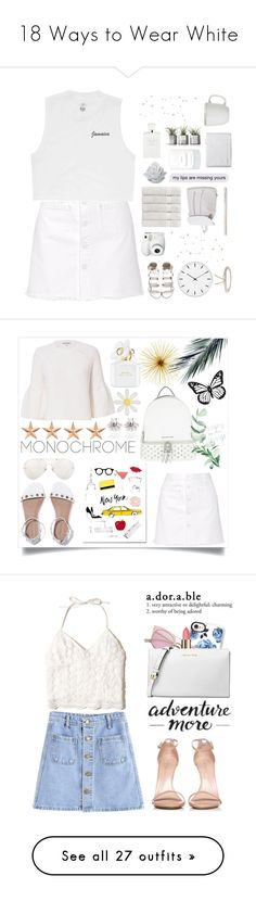 """""""18 Ways to Wear White"""" by polyvore-editorial ❤ liked on Polyvore featuring memorialday, waystowear, Steve J & Yoni P, Billabong, Christy, Fujifilm, Juliska, Christian Dior, Rosendahl and Aéropostale"""