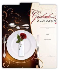 Multicolor-Geschenkgutschein G289 Restaurants, Napkins, Tableware, Fine Dining, Things To Do, Cards, Gifts, Dinnerware, Towels