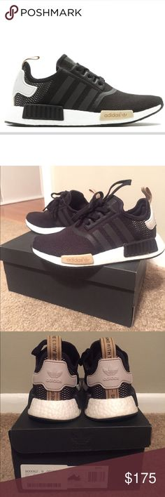 ADIDAS Women's Shoes - Adidas NMDR1 - Black Womens Size 7 Adidas NMDR1 - Womens Size 7 - black/sand/white Has been worn very few times, in great condition. Comes with original box and cardboard shoe trees. adidas Shoes Sneakers - ADIDAS Women's Shoes