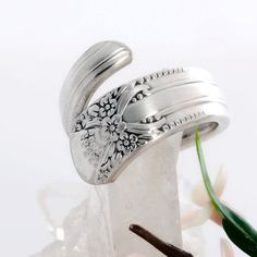 Beloved Silverware Ring  Vintage Spoon Ring  Spoon by mcfmiller, $22.00