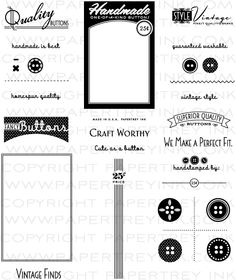 Button card stamp set $24.00 from Paper Trey Ink