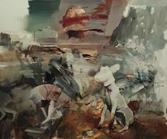 hijaktaffairs:  just ran into jeff peters who reminded me about the new adrian ghenie show up at haunch of venison in london. self portrait ...