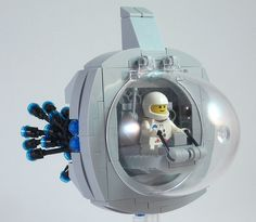#LEGO Spaceship.  I really like the rounded look of this one.