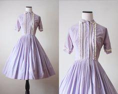 1950's dress  lilac lace 50's dress by 1919vintage on Etsy, $165.00