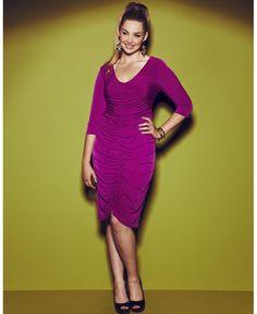 d330b606ba6 Anna Scholz Plain Ruched Dress  curvy  women  curvywomen  fullfigure  plussize  Large · Large Size ClothingDesigner ...