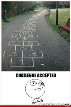Funny Challenge Accepted Compilation Pics) -I wanna try this!
