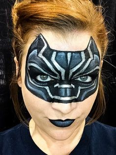 Black Panther face paint by Jocelyn Casdorph