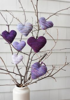 Easy 3D Hearts in Stockinette Stitch #knitting
