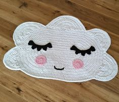 """Teppiche - Kinderzimmerteppich """"Wolke"""" / Wolkenteppich - ein Designerstück von TaTi_mit_Liebe_gehaekelt bei DaWanda"""