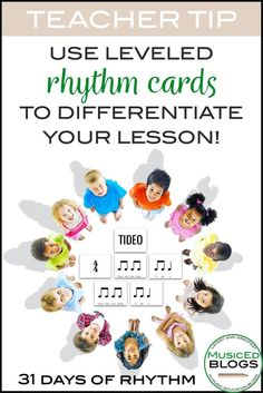 Free leveled rhythm cards to use for the well-known folk song Tideo. Discover lesson ideas for the accompanying folk song, rhythm puzzle, and differentiation. Drum Lessons, Music Lessons, Music Education Activities, Movement Activities, Physical Education, Health Education, Singing Games, Music Games, Rhythm Games