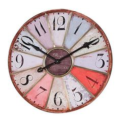 Rainbow Colors Wall Clock:  don't know if this would work in my family room, but I love the colors.