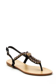 Encrusted Faux Stone Sandals