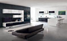 Cocinas descaradamente abiertas #cocinas #muebles