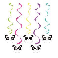 PANDA-MONIUM DANGLERS Hanging Swirls Panda Bear Birthday Party Supplies Décor