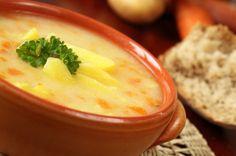 Creamy Leek Potato Soup Recipe with Crispy Leek Rings