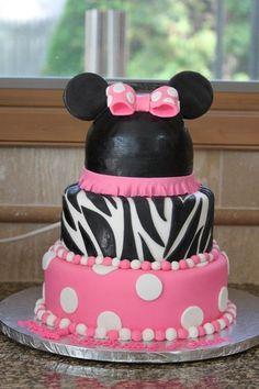 Minnie Mouse 1st Birthday cake www.rachelscakesli.com